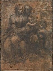 Leonardo da Vinci: Cartón de Burlington House