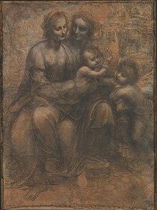 220px-Leonardo_da_Vinci_-_Virgin_and_Child_with_Ss_Anne_and_John_the_Baptist Leonardo da Vinci - Pintor, inventor e gênio...