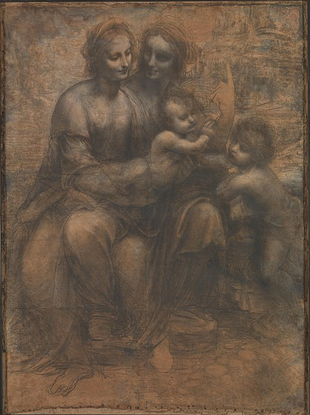 File:Leonardo da Vinci - Virgin and Child with Ss Anne and John the Baptist.jpg