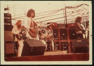Tom Robb - Tom Robb playing with Leslie West and the Wild West Show.
