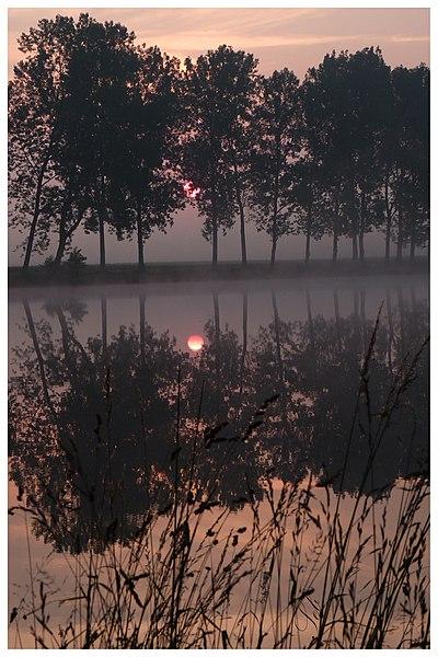 Lever de Soleil sur les étangs Thiriet Hérimenil