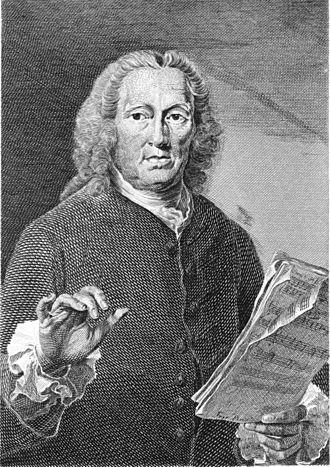 Richard Leveridge - Portrait of Richard Leveridge, Engraved by J. Saunders, After Thomas Frye (circa 1710–1762)