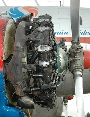 Lisunov Li-2 - Shvetsov ASh-62 radial piston engine, mounted on Li-2 HA-LIX, 2008