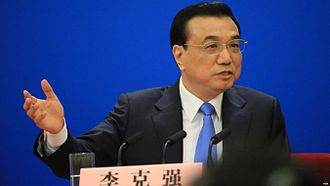 Li Keqiang - March 2015, Li attends the Chinese and foreign press conference.