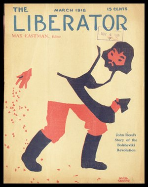 The Liberator (magazine) - Cover of debut issue, March 1918.   Cover art by Hugo Gellert.