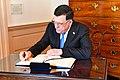 Libyan Prime Minister Fayez al-Sarraj Signs Secretary Tillerson's Guestbook (26990666069).jpg