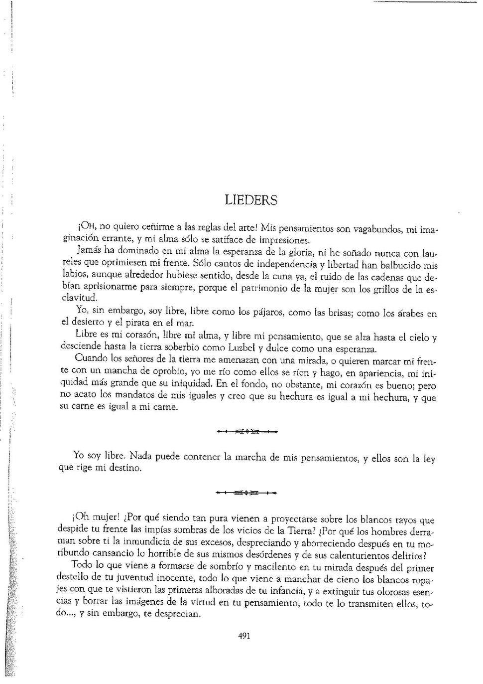 """Lieders"" (1858)."