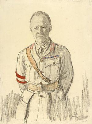 Edward Fanshawe (British Army officer) - 1917 portrait by Francis Dodd