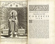 """""""Life and works of Confucius"""", by Prospero Intorcetta, 1687."""