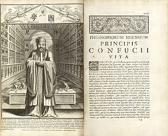 Catholic missions - Confucius, Philosopher of the Chinese, or, Chinese Knowledge Explained in Latin, an introduction to Chinese history and philosophy published at Paris in 1687 by a team of Jesuits working under Philippe Couplet.