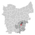 Ligging van Aaigem in Oost-Vlaanderen.png