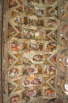 Chapelle sixtine wikip dia - Fresque du plafond de la chapelle sixtine ...