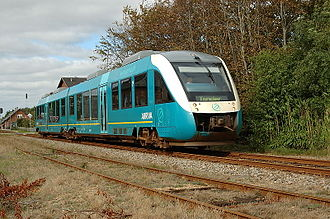 Arriva - Alstom Coradia LINT train in Denmark in September 2007