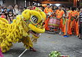 Lion dance at Chinese Temple.JPG