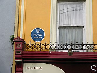 Lismore, County Waterford - Image: Lismore Astaire plaque