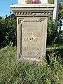 Listed cross (1909), base, 2018 Balatonlelle.jpg