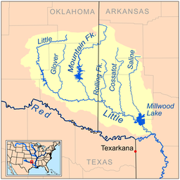 Little River Red River Wikipedia - River maps of southeast us