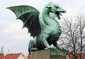 Dragón en Ljubljana.
