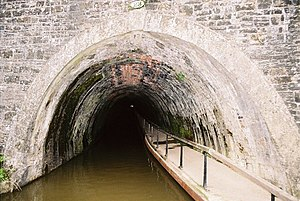Ellesmere Canal - Chirk Tunnel on the Ellesmere Canal was completed in 1802.