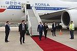 Llegada de Moon Jae-in, presidente de Corea del Sur (44285529510).jpg
