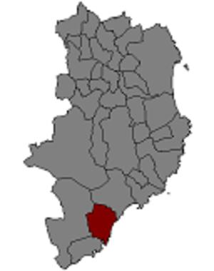 Castell-Platja d'Aro - Localization of Castell-Platja d'Aro in Catalonia.