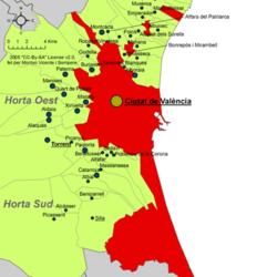 Valencia – Mappa