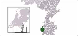 Location of Maastricht