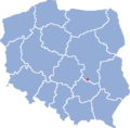 Location of Szydłowiec.png