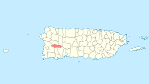 Location of Maricao in Puerto Rico