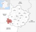 Locator map of Kanton Sablé-sur-Sarthe 2019.png