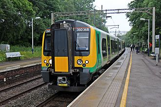 Govia - London Midland Class 350 at Kidsgrove station in June 2015