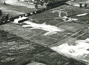 Long Branch Aerodrome - Aerial image of Long Branch Aerodrome in 1916.