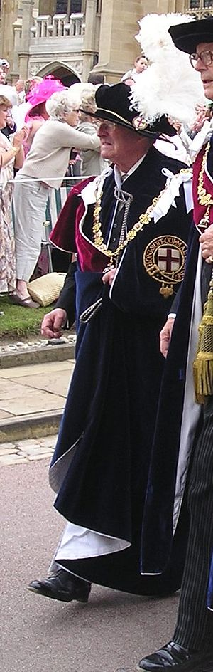 Robin Leigh-Pemberton, Baron Kingsdown - Lord Kingsdown in the robes of a Knight Companion of the Order of the Garter