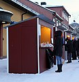 Lottery stalls, Hedemora julskyltning.jpg