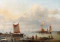 Louis Verboeckhoven - Fishermen at the Harbour Entrance.png