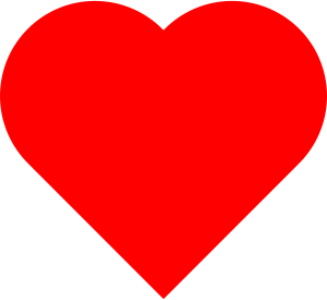 English: Love Heart symbol