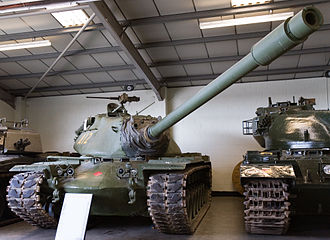 Tanks in the Cold War -  An American M103A2 heavy tank at Bovington tank museum in the UK