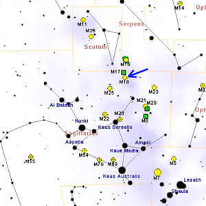 Messier 18 - Image: M18map