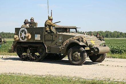 M3 half track us army pengangkut personel lapis baja