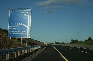 M6 motorway (Ireland) - Junction 7 on the M6.