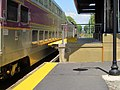 MBTA 844 at northbound mini-high platform at North Billerica, May 2016.JPG