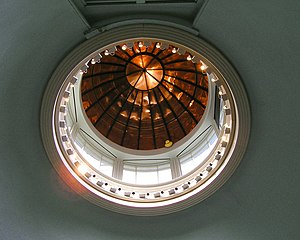 Ether Dome - The inside of the dome as viewed from the surgical theatre.