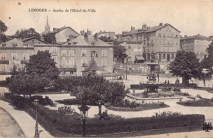 Tramway lectrique derri re les jardins de l 39 h tel de ville tramway de limoges - Jardin mediterraneen limoges ...