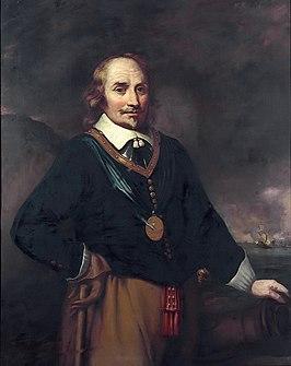 Portret van Maarten Tromp Naar Jan Lievens, National Maritime Museum Met het ordeteken van de Orde van de Heilige Michaël