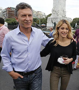 Martina Stoessel - Stoessel alongside the PRO party leader and Chief of Government of Buenos Aires, Mauricio Macri, in May 2014