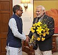 Madhya Pradesh CM Shivraj Singh Chouhan meets PM Modi.jpg