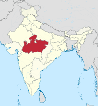 Madhya Pradesh in India (disputed hatched).svg
