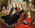 Maestro del fogliame ricamato, virgo inter virgines, 1480-1500 ca. 04 mastrimonio mistico di s. caterina.jpg