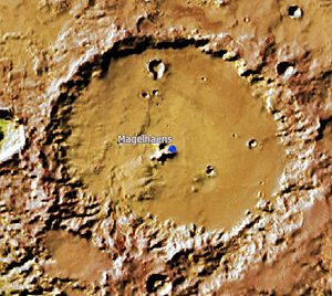 Magelhaens (Martian crater) - Location of Magelhaens Crater.