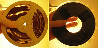 Sound recording and reproduction - Magnetic audio tapes: acetate base (left) and polyester base (right)